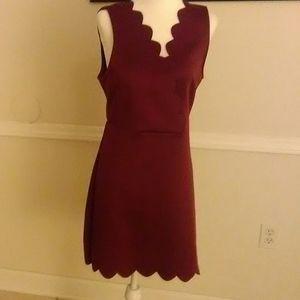 She and Sky Scalloped Dress
